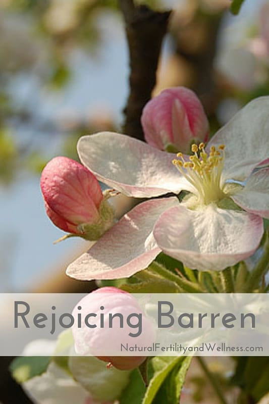 Rejoicing barren