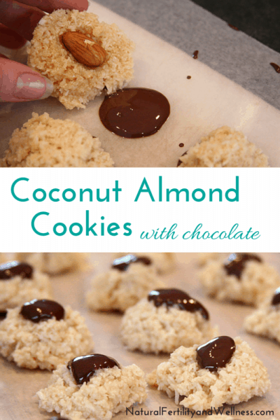 Coconut Almond Cookies with Chocolate