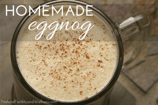 Recipe for homemade eggnog