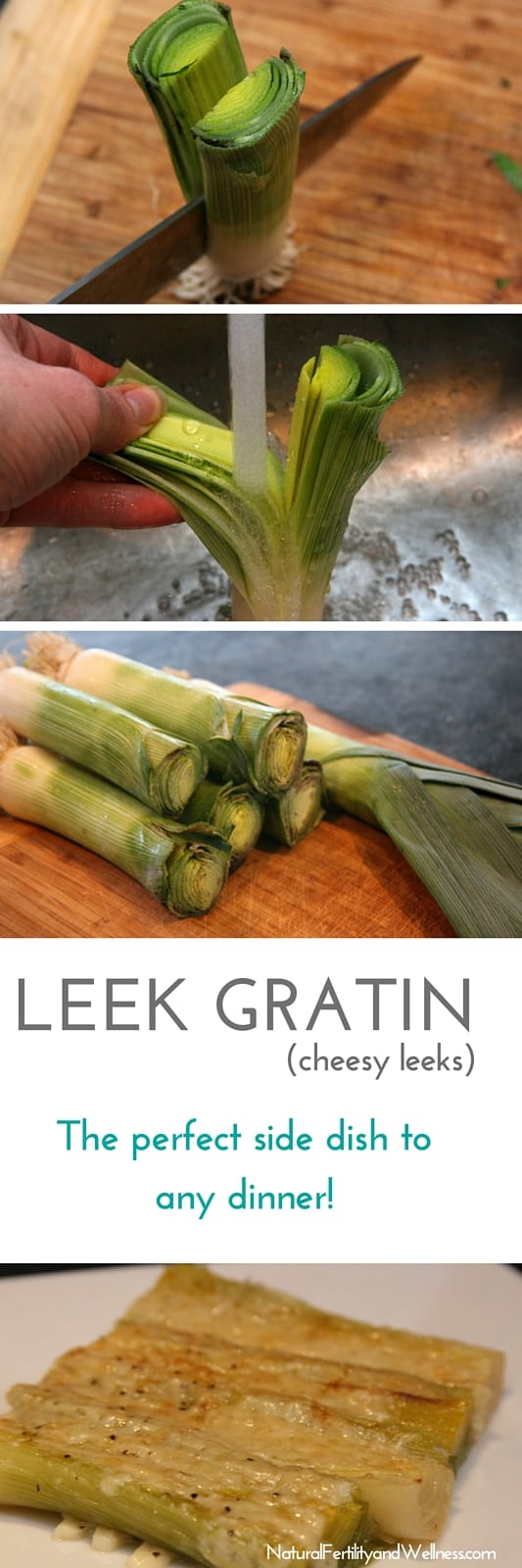 Leek Gratin - a cheesy side dish!
