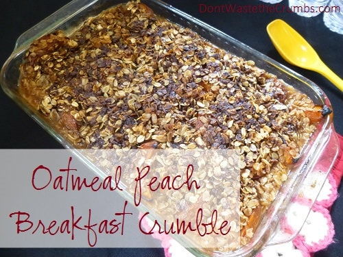 oatmeal peach breakfast crumble