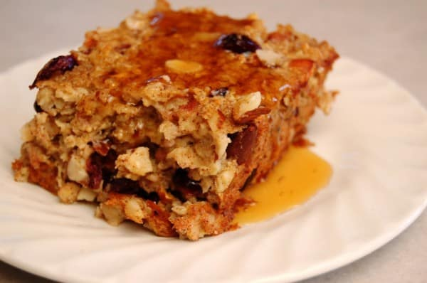 cran-apple baked oatmeal